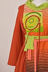 Šaty - ŽIARA - originálne šaty z bavlneného úpletu. - 9165423_