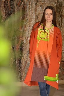 Šaty - IDEM ZA JEHO ŽIAROU -originálne šaty z bavlneného úpletu. - 9165406_