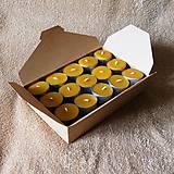 Svietidlá a sviečky - Čajová sviečka - včelí vosk (30ks) - v darčekovej krabičke - 9164782_