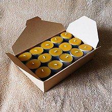 Svietidlá a sviečky - Čajová sviečka - včelí vosk (30/45ks) - v darčekovej krabičke - 9164782_