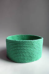 Košík - Smaragdový svetlý   Zelený   veľký