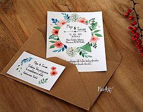 Papiernictvo - Svadobné oznámenie 34 - 9166938_