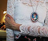 Náhrdelníky - Frida/ cirkusmedailonik - 9163884_