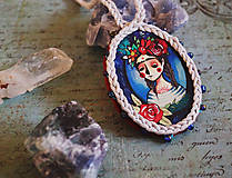 Náhrdelníky - Frida/ cirkusmedailonik - 9163885_