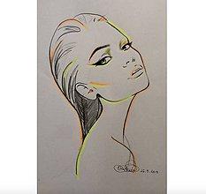 Obrazy - Neon Girl - 9167433_