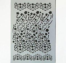 Pomôcky/Nástroje - Šablóna Stamperia - 20x30 cm - krajka, ornament, čipka - 9163783_