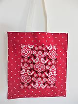 Nákupné tašky - Plátená taška - vtáčiky - 9167046_
