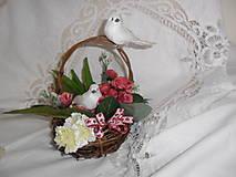 Dekorácie - Veľkonočný aranžmán - košíček - 9165163_
