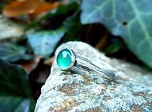 Prstene - Strieborný Prsteň s Chalcedónom - 9164453_