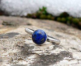Prstene - Strieborný Prsteň s Lapis Lazuli - 9164070_