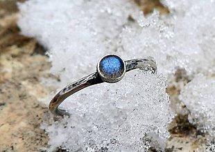Prstene - Strieborný Prsteň s Labradoritom - 9164075_