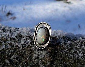 Prstene - Strieborný (Ag925) Prsteň s Austrálskym Drahým Opálom - 9164294_