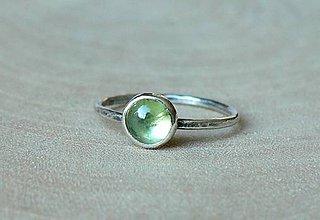 Prstene - Strieborný Prsteň s Olivínom - 9164380_