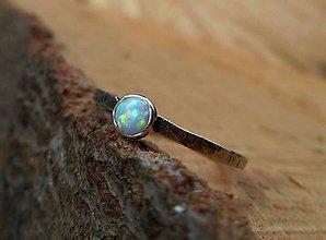 Prstene - Strieborný Prsteň s Opálom - 9164674_