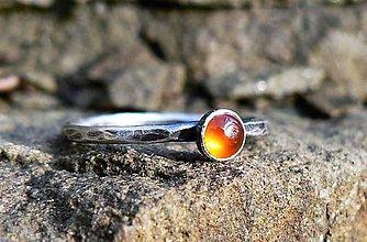 Prstene - Strieborný Prsteň s Karneolom - 9164700_