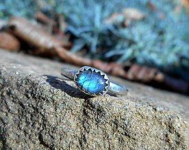 Prstene - Strieborný Prsteň s Labradoritom - 9164707_