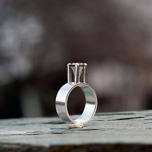 Strieborný prsteň - Lej