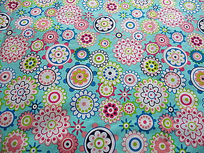 Textil - Tyrkysové mandaly - 9163967_