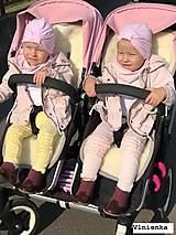 Textil - Bugaboo Donkey Twin grey seat liners / podložky pre dvojičky 100% MERINO wool na mieru - 9167185_
