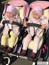 Textil - Bugaboo Donkey Twin seat liners soft pink and ice blue/ podložky pre dvojičky 100% MERINO pastelová ružová a bledomodrá - 9168103_