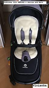 Textil - Bugaboo Donkey Twin seat liners soft pink and ice blue/ podložky pre dvojičky 100% MERINO pastelová ružová a bledomodrá - 9168110_