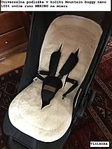 Textil - Bugaboo Donkey Twin seat liners Sand and Sunrise Yellow/ podložky pre dvojičky 100% MERINO pastelová žltá a béžová - 9168129_