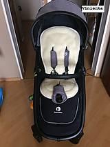 Textil - Bugaboo Donkey Twin seat liners Off White and Sunrise Yellow/ podložky pre dvojičky 100% MERINO pastelová žltá a smotanová - 9168141_