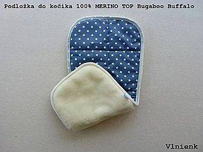 Textil - Podložka do kočíka 100% ovčie rúno MERINO TOP Bugaboo Buffalo Seat Liner Blue - 9164535_