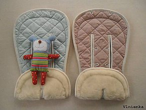 Textil - Bugaboo Donkey Twin seat liners / podložky pre dvojičky 100% MERINO wool na mieru pastelová - 9167146_