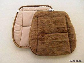Úžitkový textil - RUNO SHOP Hrejivý sedák do auta Ovčie runo CAMEL LUX  proti prechladnutiu a prehriatiu 100% bavlna béžová - 9167821_