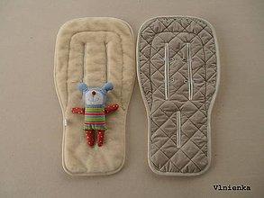 Textil - Bugaboo Donkey Twin seat liners Sand / podložky pre dvojičky 100% MERINO wool na mieru piesková - 9168201_