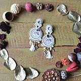 Náušnice - Les libellules d'or -  sutaškové náušnice - 9165541_