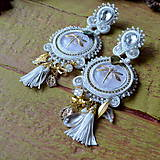 Náušnice - Les libellules d'or -  sutaškové náušnice - 9165543_