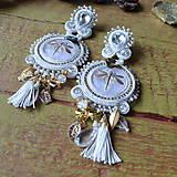 Náušnice - Les libellules d'or -  sutaškové náušnice - 9165544_