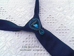 """Šperky - Ozdoba na kravatu """"Grécky modrá"""" - 9164505_"""