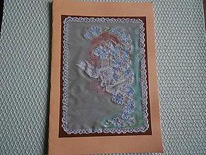 Papiernictvo - svadobný pozdrav - holúbky v okne - 9163886_