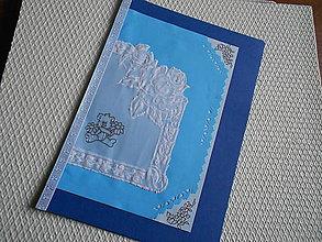 Papiernictvo - Svadobný pozdrav - biele ruže - 9163918_