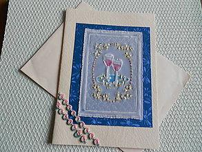 Papiernictvo - Svadobný pozdrav - na zdravie novomanželom - 9163943_