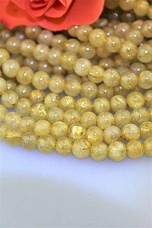 Minerály - sagenit korálky 6mm (venušine vlasy) - 9165616_