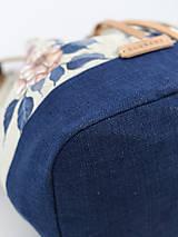 Kabelky - Ručne maľovaná ľanová kabelka z ľanu