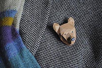 Odznaky/Brošne - Medveď bronzový - 9165570_