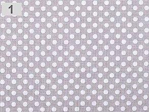 Textil - bavlna bodkovaná (Šedá) - 9165329_