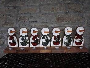 Dekorácie - svietnik snehuliak - 9163836_