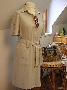 Šaty - Safari šaty pre pohodu ;) členené - 9165842_