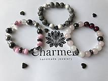 Náramky - Náramok Hematite Heart / Bracelet Hematite Heart - 9166204_
