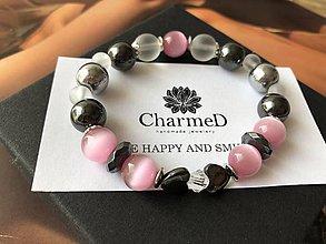 Náramky - Náramok Hematite Heart / Bracelet Hematite Heart - 9166202_
