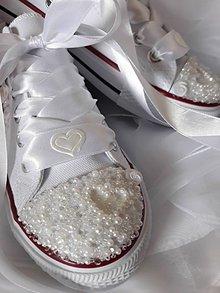 Obuv - Svadobné tenisky - 9166298_