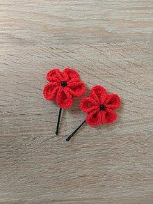 Ozdoby do vlasov - Sponky do vlasov - háčkované kvety - 9165462_