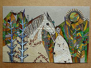 Kresby - obrázok koniarka - 9165116_