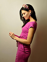 Vreckové šaty Fuchsia